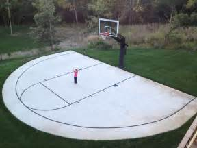 a backyard half court with striping is can be an inspiring