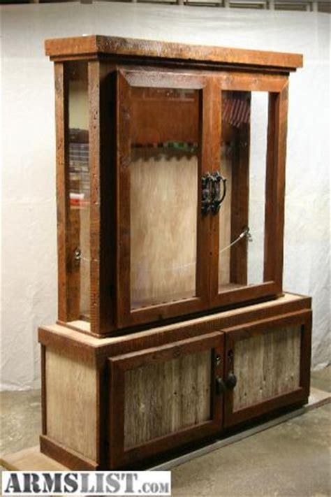 Barnwood Gun Cabinet by Armslist For Sale Trade Barnwood Gun Cabinet