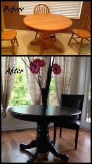 Black Dining Room Table Diy Kitchen Table Redo Transforms The Whole Space How Cool Is That Chairs Dining