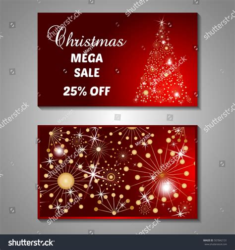 christmas trees for sales flyers set stylized tree invitation flyer stock vector 507842131