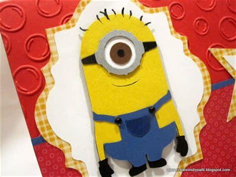 creations by patti thanks a minion card