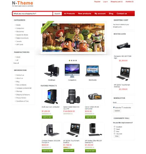 nopcommerce 2 30 template gifts theme