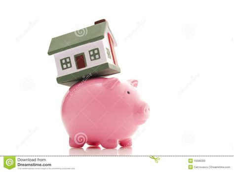 buy house from bank piggy bank and house stock photo image 15596300