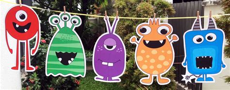 free printable monster birthday decorations monster party invitations and decorations printable