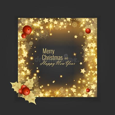 merry christmas  happy  year  greeting card vector illustration stock vector