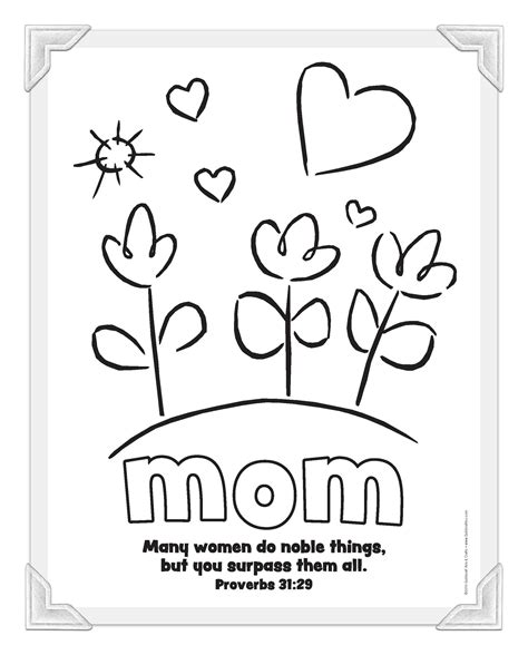 Mothers Day Christian Card Template by Christian Mothers Day Coloring Pages Free Large Images