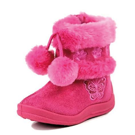toddler girl house slippers babys girls infant kids toddler flat winter fur boots