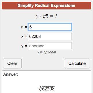 calculator radical simplify radical expressions calculator