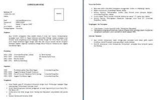 Contoh Format Resume by Contoh Resume