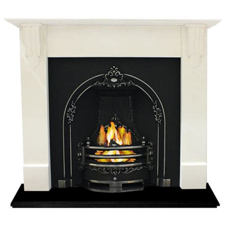 Fireplace With Corbels Limestone Corbel Fireplace With Cast Insert