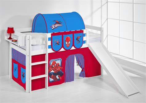spiderman bunk bed cabin bed bunk bed midsleeper highsleeper jelle slide