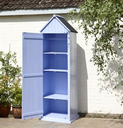 Sentry Shed by Blue Sentry Box Style Garden Tool Shed Garden Ideas