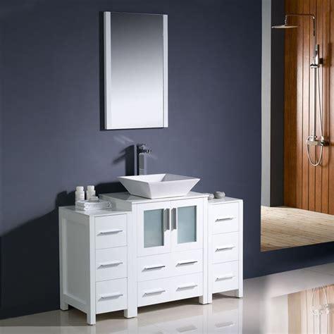 48 x 18 bathroom vanity shop fresca torino white vessel single sink bathroom