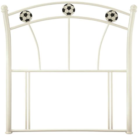 single metal headboard buy serene soccer white gloss metal headboard 3ft single