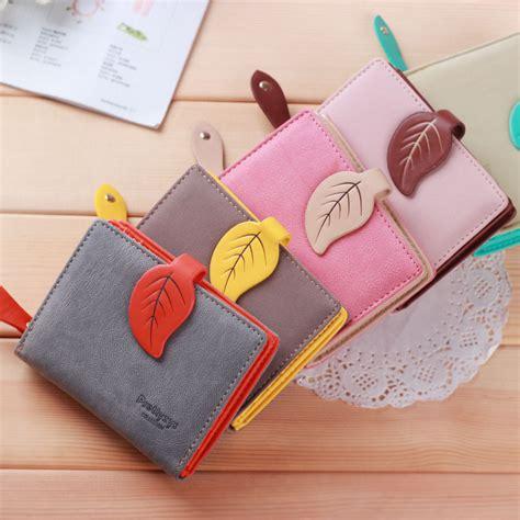 Dompet Kartu Bahan Kulit Mini Wallet dompet kartu wanita maple leaf bahan kulit jakartanotebook