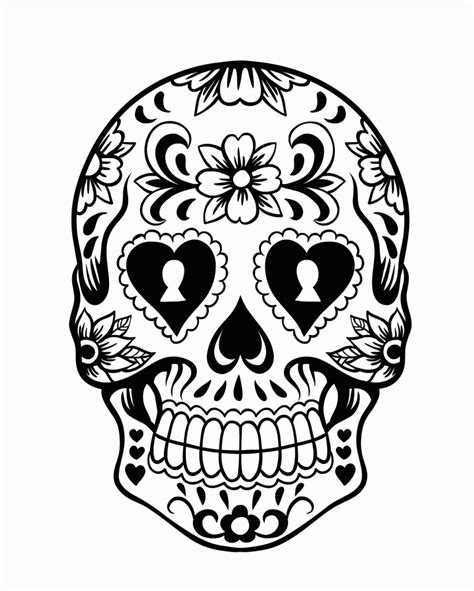 Day Of The Dead Drawings Easy by Sugar Skull Cool Easy Skull Drawings Skulls Colouring