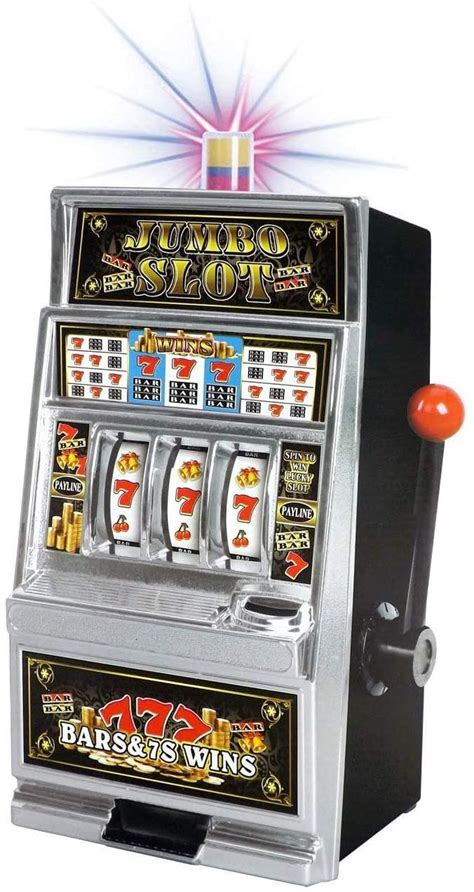 liberty imports lucky sevens jumbo slot machine casino toy piggy bank replica  flashing