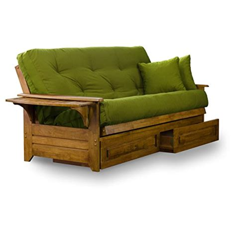 queen wood futon frame brentwood tray arm queen size wood futon frame and storage