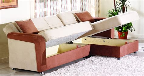 two tone microfiber sectional two tone microfiber contemporary sectional sofa w storages