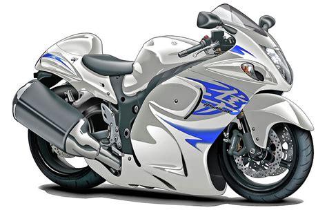 White Suzuki Hayabusa Suzuki Hayabusa White Blue Bike Digital By Maddmax