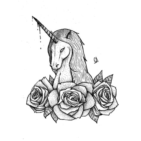 unicorn tattoo drawing