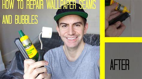 wallpaper edge repair how to repair wallpaper seams fix bubbles youtube