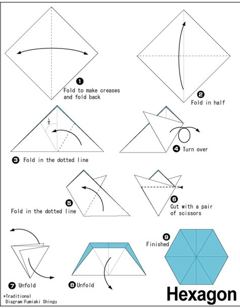 Origami Hexagon - hexagon easy origami for