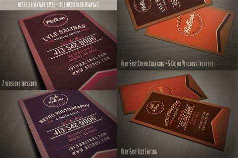 card templates for sale sale 6retro business cards 60 business card