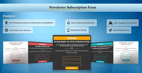 newsletter subscription form wordpress plugins