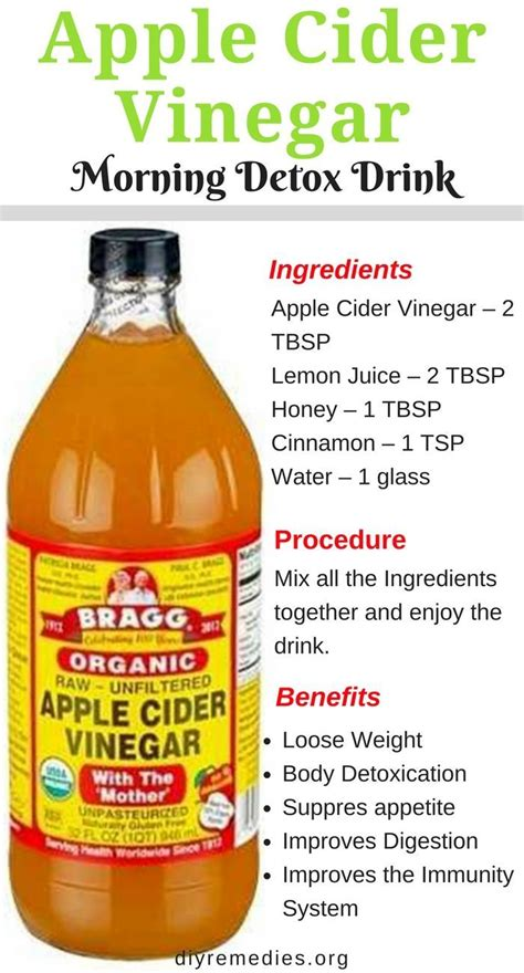 Apple Cider Vinegar Causes Detox by Best 25 Drinks For Bloating Ideas On Bloating