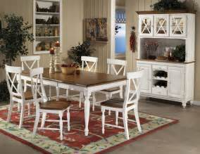 French Country Dinette Sets - white dining table at the galleria