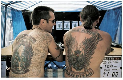 hells angels back tattoos andrew shaylor outlaw tattoo