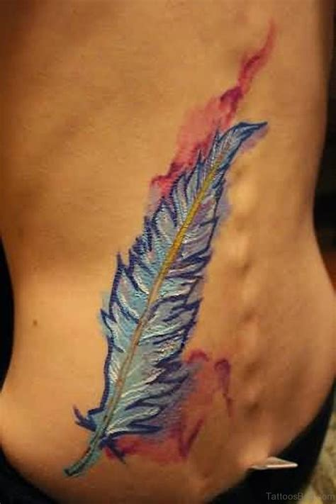 feather tattoo lower back 43 wondrous feather tattoos on back