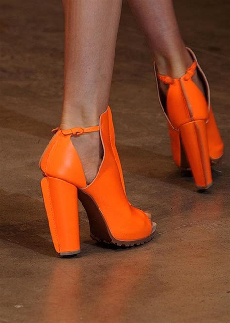 Orange Shoes by Neon Orange Shoe