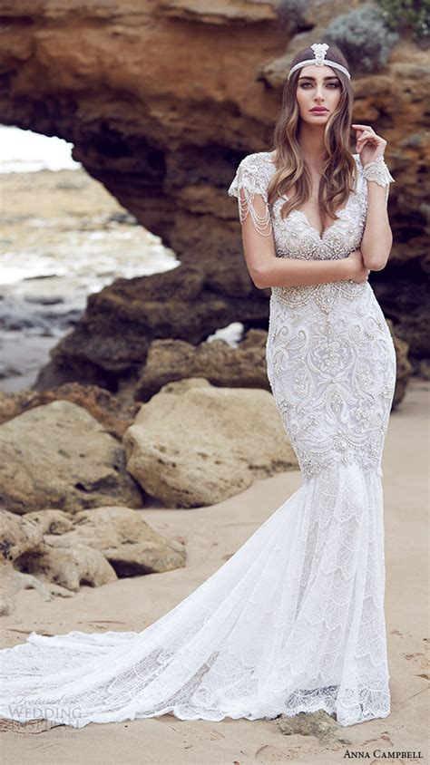 anna cbell inspired beach wedding dresses sleeves 2015 vintage anna cbell wedding dresses spirit bridal collection