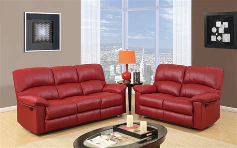 red loveseat recliner u99270 red pu reclining sofa by global furniture