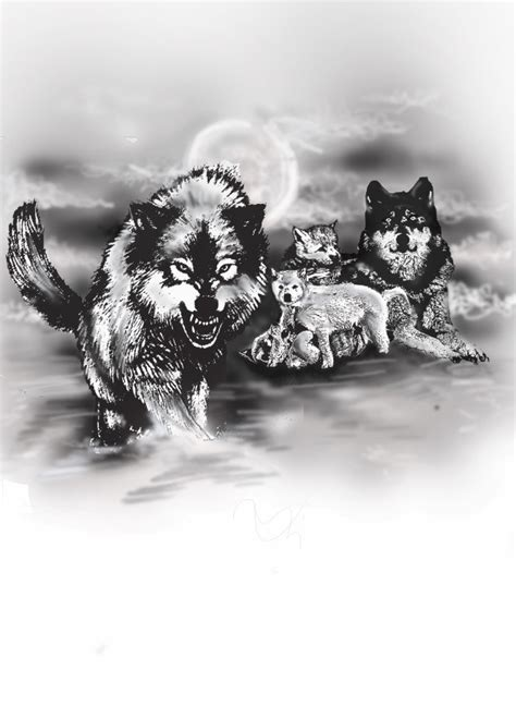 wolfpack tattoo design a wolf pack freelancer