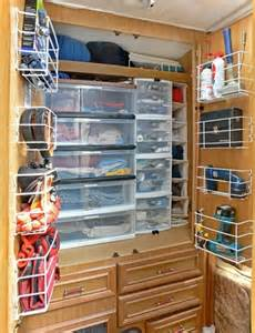 Organized Kitchen Cabinets by Caravan Rv Storage Ideas Caravan Living Pinterest