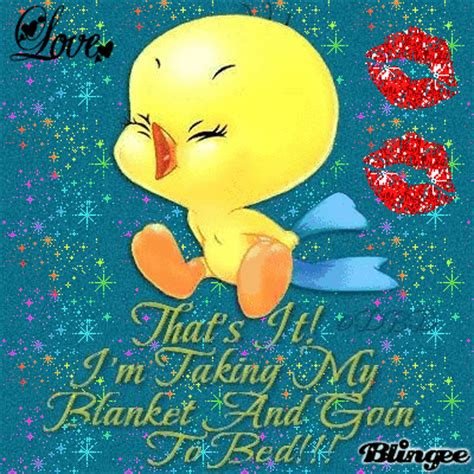 going to bed now tweety going to bed now picture 130018825 blingee com