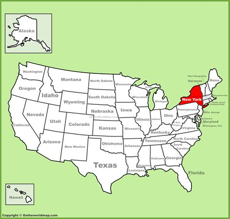 map usa new york state new york state location on the u s map