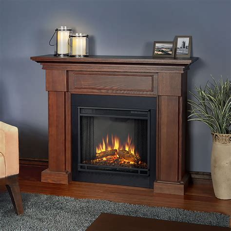 Electric Fireplace Packages by Hillcrest Electric Fireplace Mantel Package In Chestnut