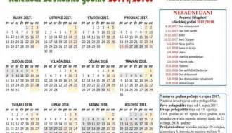 Pravoslavni Kalendar 2018 školski Kalendar S Praznicima Za 2017 2018 Godinu