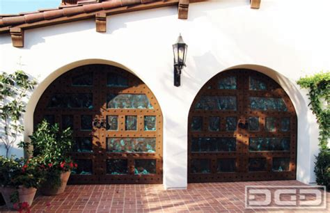 California Dream 08 Custom Made Spanish Style Garage Santa Barbara Overhead Door