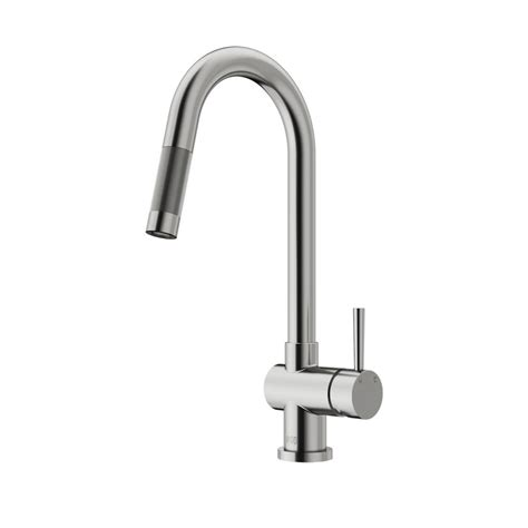 pull kitchen faucets stainless steel vigo gramercy single handle pull sprayer kitchen faucet in stainless steel vg02008st the