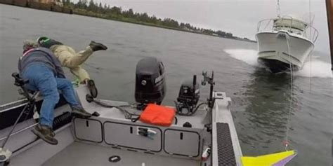 fisherman boat crash fisherman sues after boat crash caught on video