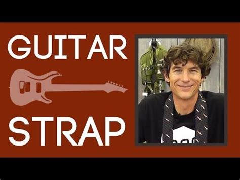 tutorial guitar the man who can t be moved guitar or camera strap easy sewing tutorial with rob