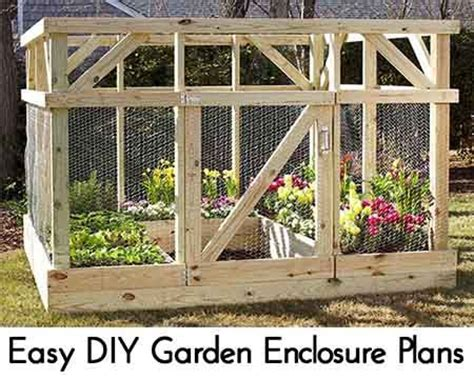 Easy Diy Garden Enclosure Plans Vegetable Gardening Vegetable Garden Enclosures