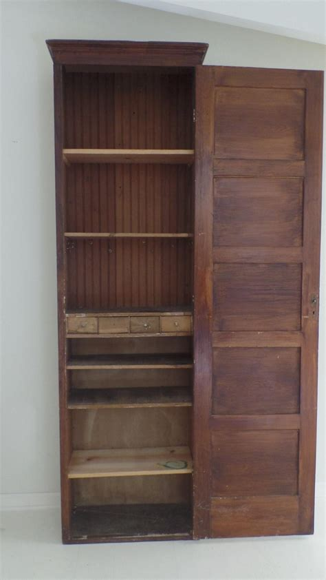 storage cabinet with doors and drawers rustic tall narrow wood storage cabinet with one door