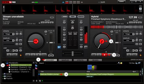 console dj virtuale broadcast with dj
