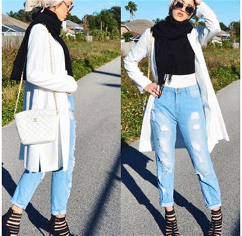 Master Celana Wanita Putih style padu padan ala hijabers palestina sally omo 2